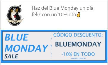 cupon descuento corbetos boots blue monday 2021